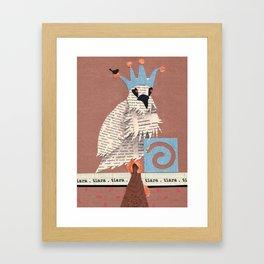 Birds Wearing Clothes - Tiara Framed Art Print