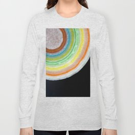 Colorful Abstract Slice of Giant Jawbreaker Candy Long Sleeve T-shirt