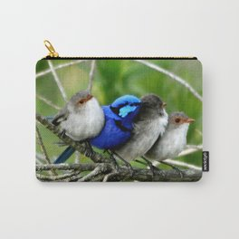Blue Wren Family Carry-All Pouch
