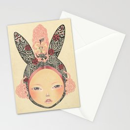 Bunny Girl Stationery Cards