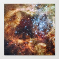 outer space Canvas Prints featuring Outer Space by Rab Sizzle