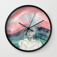 creativity Wall Clocks featuring Creativity by Nina Schulze Illustration