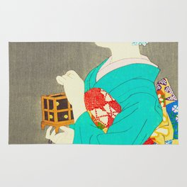 Mushikago - Insect Cage - Japanese Art Rug