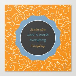 Everything, Everything by Nicola Yoon Canvas Print