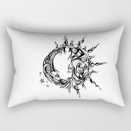 Tribal Sun and Moon Rectangular Pillow