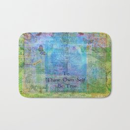 To Thine Own Self Be True Shakespeare Quote Bath Mat