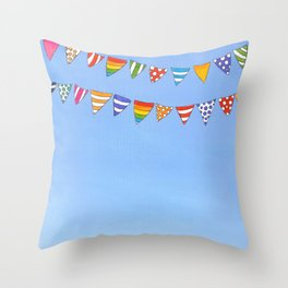 Banners in the sky Throw Pillow