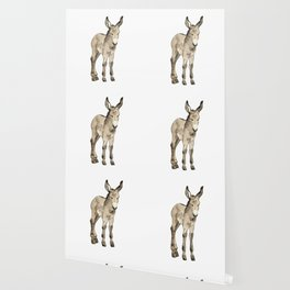 Tiny Watercolour Donkey Wallpaper