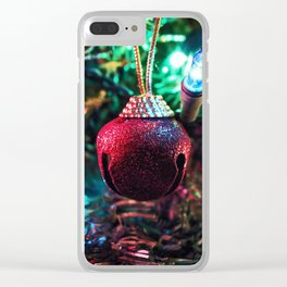 Tis the Season of Red Bells Clear iPhone Case