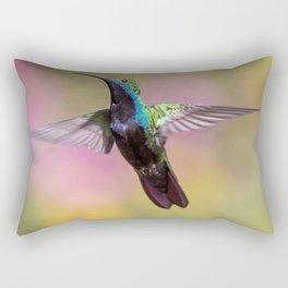 Hummingbird Fluttering its Wings Rectangular Pillow