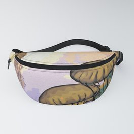 Colorful Jellyfish Woodblock Style Fanny Pack