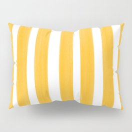 Sunny Yellow Paint Stripes Pillow Sham