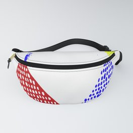 Untitled 088 in Red, Blue, and Yellow (2019) Fanny Pack