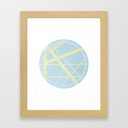 Crossroads ll - circle graphic Framed Art Print