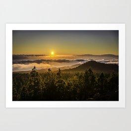 Sunset at 1800m Art Print