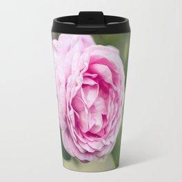 Soft pink tea rose flower Travel Mug