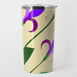 A Bouquet of Mediterranean Purple and Lavender Flowers Travel Mug