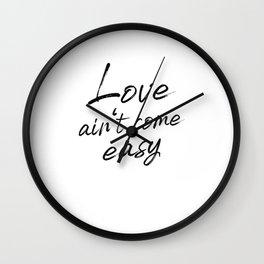 Love Romance Single Saying Wall Clock