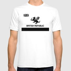 British Republic White Mens Fitted Tee SMALL