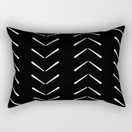 Black And White Big Arrows Mud cloth Rectangular Pillow