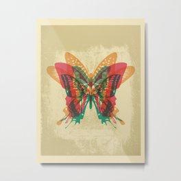 Butterfly Rorschach Metal Print