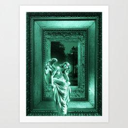 Angel of Bristol (Blue/Green - Cyan) Art Print