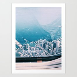 'Sky High' above Chicago Art Print