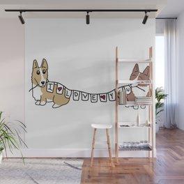 Corgis love you Wall Mural