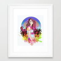 scorpio Framed Art Prints featuring Scorpio by Sara Eshak