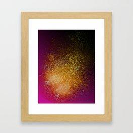 Tangerine Orange and Burgundy Spray Paint Splatter Framed Art Print