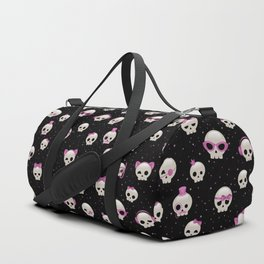 Cute Skulls with Pink Accessories Duffle Bag