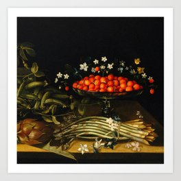 Still life from the 17th century Art Print
