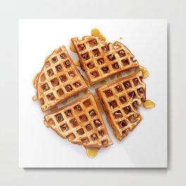 Cinnamon Raisin Waffle Metal Print