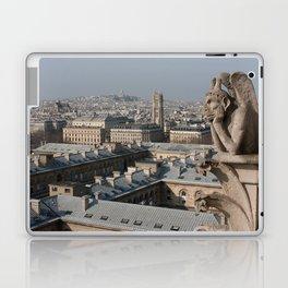 Gargoyle staring at Paris Laptop & iPad Skin
