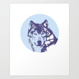 Loyal Wolf Totem Portrait  Art Print