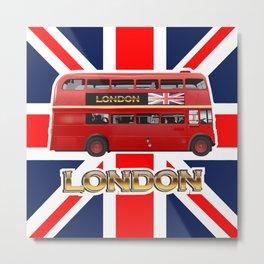 Red Londn Bus Metal Print