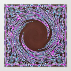 In The Pink Colorfoil Bandanna Twirl Canvas Print