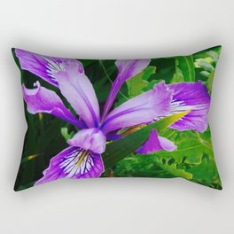Wild Purple Iris Rectangular Pillow