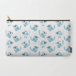 Happy Blue Birds Pattern Carry-All Pouch