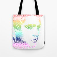 elvis Tote Bags featuring Elvis by ron ashkenazi