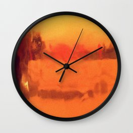 Colored by Tea Wall Clock