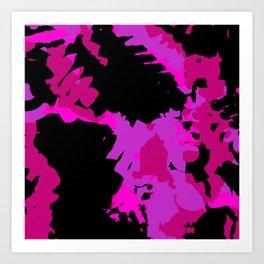 Fuchsia and black abstract Art Print
