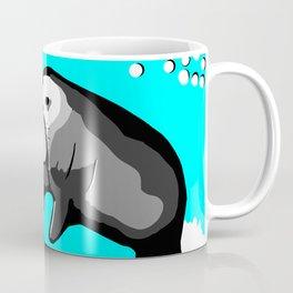 Manatee Love in blue Coffee Mug