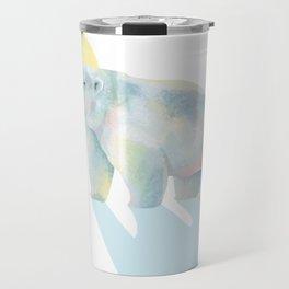 Ice bear in sunrise Travel Mug