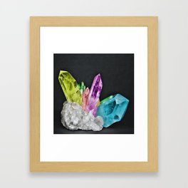 Chakra Rock Crystal - Geode Series Framed Art Print