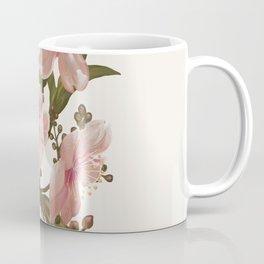 Blush Pink Watercolor Flowers Artwork Coffee Mug