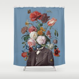 This one goes out to the one I love (4) blue Shower Curtain