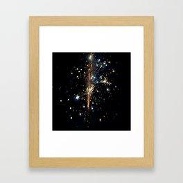 Sky Glitter Framed Art Print