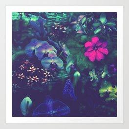 Gathering of Flowers - [Purple Version] Art Print