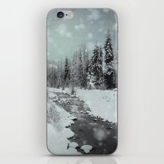 Blue Winter Landscape iPhone & iPod Skin